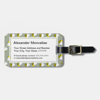 Cute Little Bumble Bee Pattern Luggage Tag