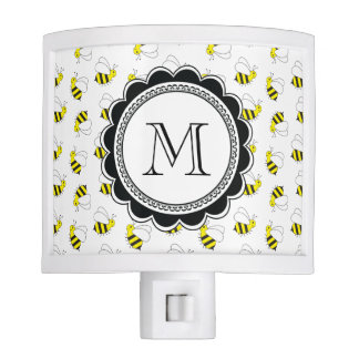 Cute Little Bumble Bee Pattern Night Lights