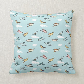 Cute little cartoon birds - Throw Pillow