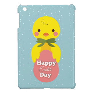 Cute little cartoon chick easter greetings iPad mini case