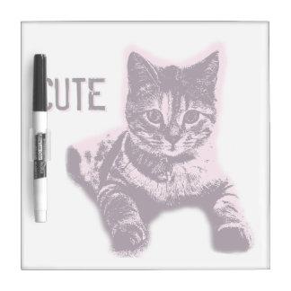 Cute Little Cat Kitten Kitty Pet Dry Erase Board