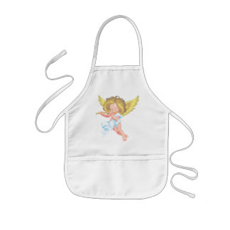 Cute little cherub kids apron
