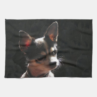 Cute Little Chihuahua Dog Kitchen Towel