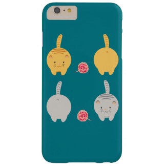 Cute little colorful cats with yarn barely there iPhone 6 plus case