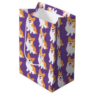 Cute Little Corgi Pattern Medium Gift Bag