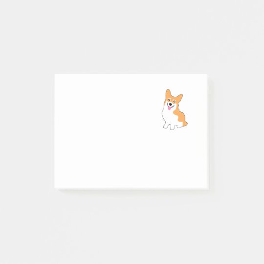 Cute Little Corgi Post-it® Notes