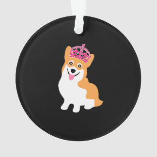 Cute Little Corgi Princess Wearing a Pink Crown
