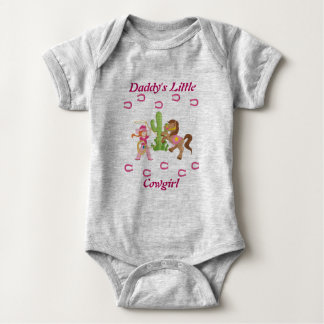 Cute Little Cowgirl and Pony Baby Bodysuit