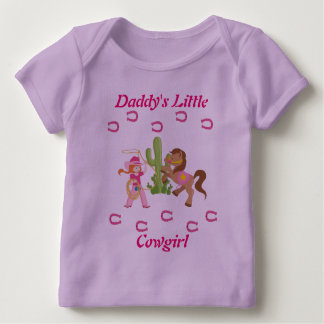 Cute Little Cowgirl and Pony Baby T-Shirt