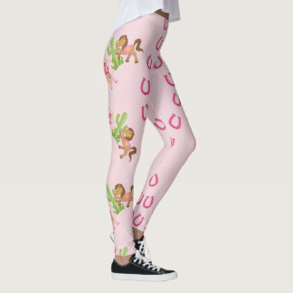 Cute Little Cowgirl and Pony Leggings