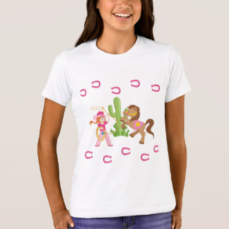 Cute Little Cowgirl and Pony T-Shirt