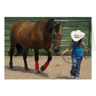 Cute Little Cowgirl Birthday Greeting Card