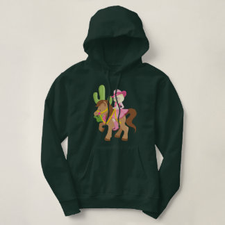 Cute Little Cowgirl on Pony Hoodie