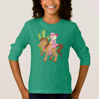 Cute Little Cowgirl on Pony T-Shirt