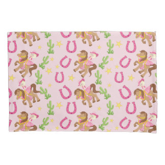 Cute Little Cowgirl Pattern Pillowcase