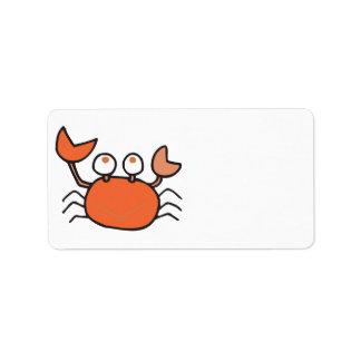 cute little crab cartoon graphic