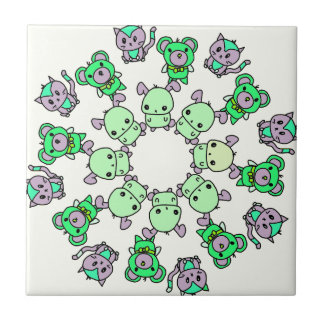 cute little creatures tile
