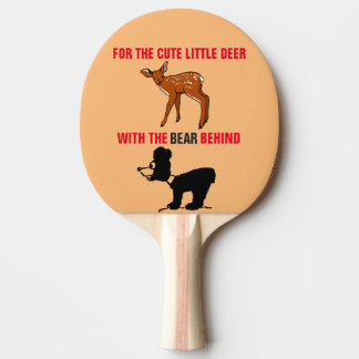 CUTE LITTLE DEER BEAR BEHIND RETRO SPANKING PADDLE Ping-Pong PADDLE