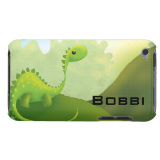 cute little dino dinosaur personalize with name iPod touch case