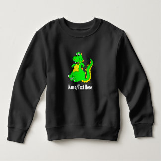 Cute Little Dinosaur Name Template Sweatshirt