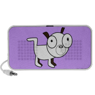 cute little dog graphic portable speakers
