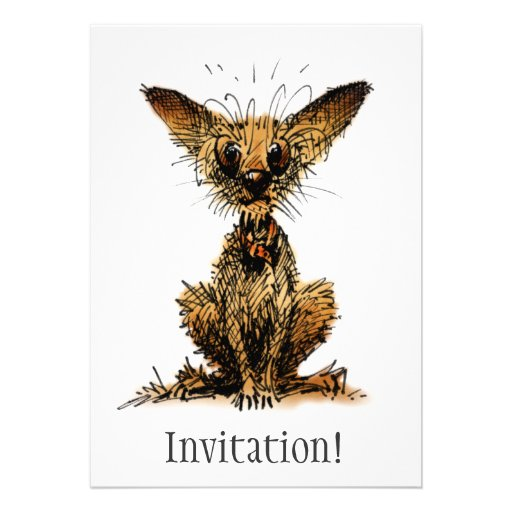 Cute Little Dog Custom Announcements