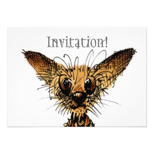 Cute Little Dog Personalized Invite