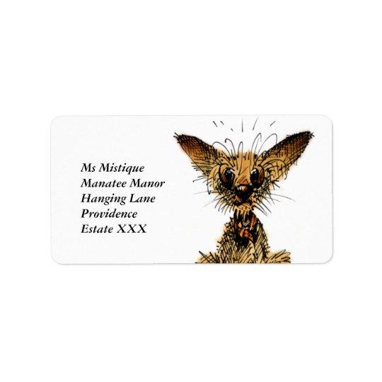 Cute little dog label