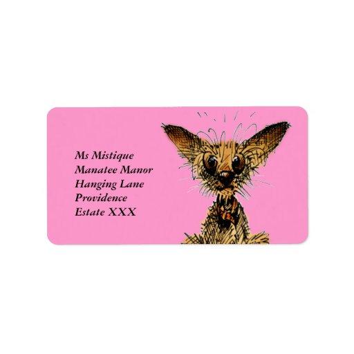 Cute little dog custom address labels