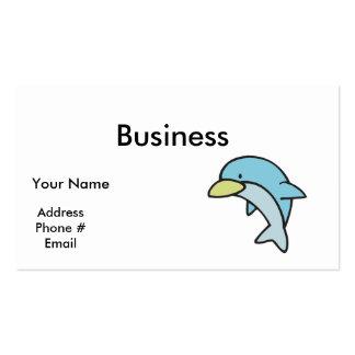 cute little dolphin business card