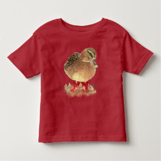 Cute Little Duck in Red Rubber Boots Fun Toddler T-shirt