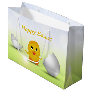 Cute Little Easter Chick - Large Gift Bag
