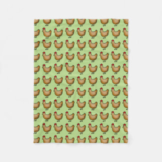 cute little farm chicken hen pattern fleece blanket