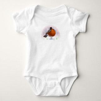 Cute little Fat Robin Baby Bodysuit