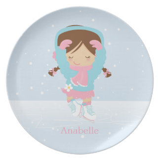 Cute Little Figure Skater Personalized Plate