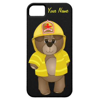 Cute Little Firefighter Kids Teddy Bear Cartoon iPhone 5 Cover