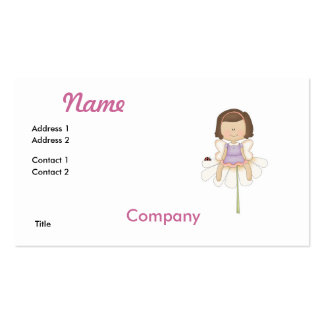 Cute Little Flower Fairy Girl Business Card