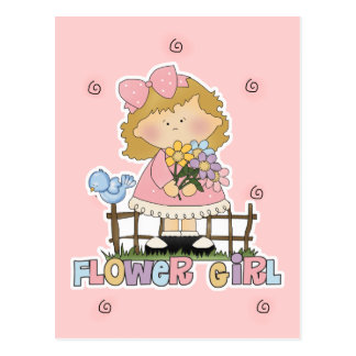 Cute Little Flower Girl Postcard
