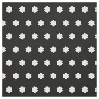 Cute little flowers black and white floral fabric