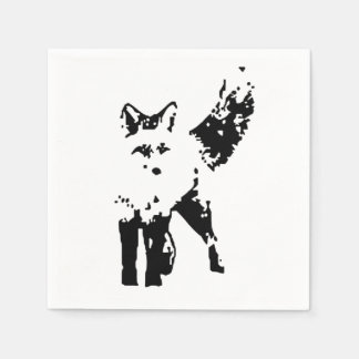 Cute Little Fox Animal Nature  Art Disposable Napkin