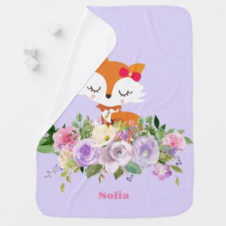 cute little fox Baby Blanket
