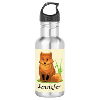 Cute Little Fox Back to School 532 Ml Water Bottle