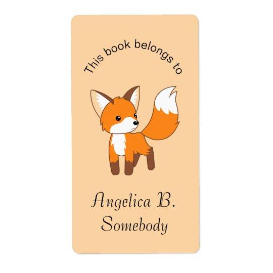 Cute Little Fox Bookplate