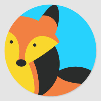 Cute little Fox Round Sticker