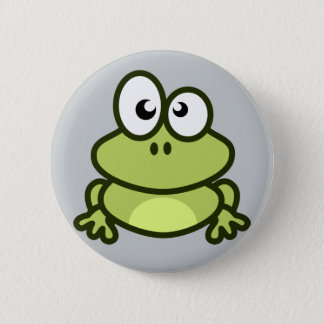 cute little frog button