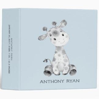 Cute Little Giraffe Boys Baby Photo Album Vinyl Binder