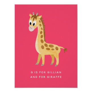 Cute Little Giraffe Poster