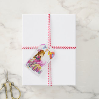 Cute Little Girl Girlie Gift Tags