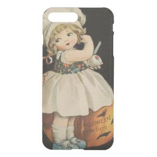 Cute Little Girl Jack O' Lantern Pumpkin iPhone 8 Plus/7 Plus Case