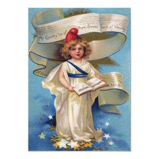 "Cute Little Girl Lady Liberty 5"" X 7"" Invitation Card"